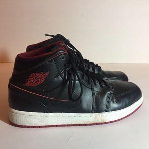 Air Jordan Red/ Black High Top Sneaker